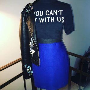 Cobalt Blue Miniskirt